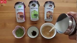 Different flavors Latte in MINISO Australia